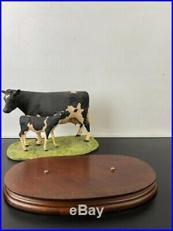 1981 Border Fine Arts Friesian Cow & Calf Limited Edition Figurine BFA Scotland