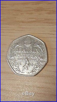 2016 Beatrix Potter 50p coin Rare