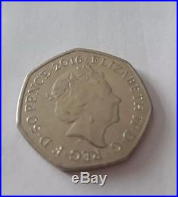 2016 Rare 50p COIN MRS TIGGY-WINKLE Beatrix Potter Fifty Pence