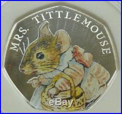 2018 Beatrix Potter set of 4 Silver Proof 50p inc Flopsy Bunny, Peter Rabbit etc
