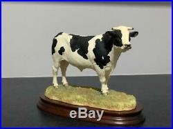 A Border Fine Arts Holstein Bull, B0308, Limited Edition 376/1750