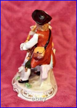 Antique German'Sitzendorf' Porcelain Group Figurine