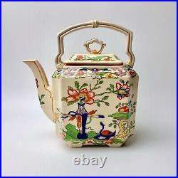 Antique Masons Ironstone Oriental Design Tea Pot/ Kettle