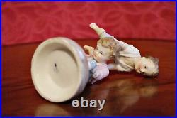 Antique Rare Ernst Bohne & Son Porcelain Group Figurine'Playing Boys' 1854-1900
