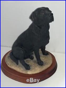 BORDER FINE ARTS, BLACK LABRADOR DOG. 1992, Very Rare, Original, Margaret Turner