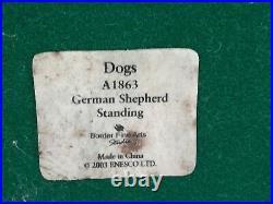 BORDER FINE ARTS, GERMAN SHEPHERD, Very Rare, Stunning, Margaret Turner, 2003