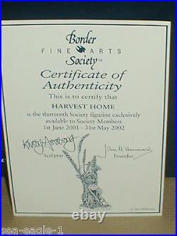 BORDER FINE ARTS, HARVEST HOME, MICE, 2001, Very Rare, Excl. Society Piece, MIB