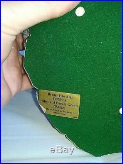 BORDER FINE ARTS, Limited Edition, SHETLAND SHEEP FAMILY, Stunning, 2000, V. Rare