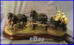 BORDER FINE ARTS Team Work Horse Carriage Racing Ltd Edition 500 Box Cert Rare