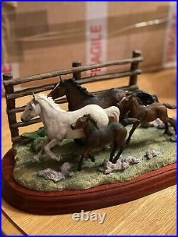 BORDER FINE ARTS The Drift New Forest Ponies Limited Ltd Edition