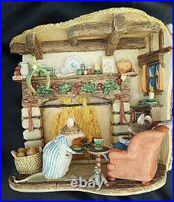 BRAMBLY HEDGE BORDER FINE ARTS WINTER TABLEAU B0554 BOXED, 522 of 999, 1999
