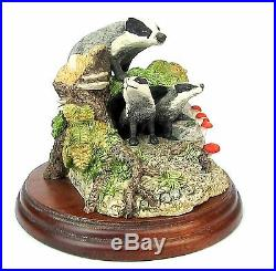 Badgers Figurine Border Fine Arts 150/R- Made Scotland 1992 Ex Showroom Display
