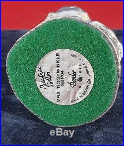 Beatrix Potter Border Fine Arts Silver Mrs Tiggy-winkle Figurine Sbp04