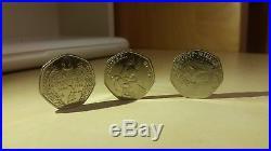 Beatrix Potter Mrs Tiggy Winkle Squirrel Nutkin 50p coin collectors item