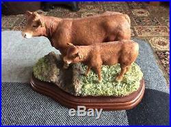 Border Fine Art Limousin Cow & Calf A 8952