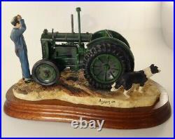 Border Fine Arts B0299 Tractor Wont Start + Base Certificate & Original Box VGC