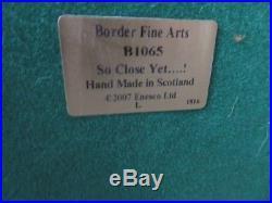 Border Fine Arts B1065 So Close Yet! Fox & Pheasant Limited Edition. 229/750
