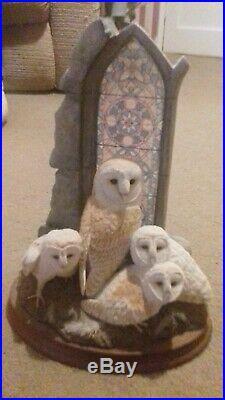 Border Fine Arts B1186 Evening Reflection Owls Figurine
