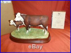 Border Fine Arts BFA Hereford Cow And Calf B0835 Ltd Edition