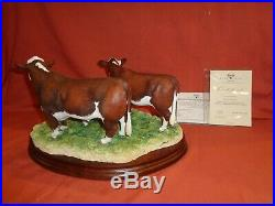 Border Fine Arts BFA Hereford Family B1129 Ltd Edition Bull Cow Calf
