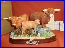 Border Fine Arts BFA Highland Cattle B1325 Ltd Edition Bull Cow Calf