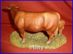 Border Fine Arts BFA Limousin Cow Calf L157 Limited Ed Anne Wall