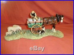 Border Fine Arts BFA Supplementary Feeding Horse Tip Cart JH57 Ltd Edition