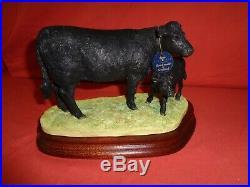Border Fine Arts BFA Welsh Cow and Calf BO008 Ltd Edition