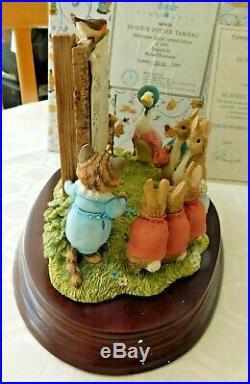 Border Fine Arts BFA World of Beatrix Potter LE Beatrix Potter Tableau #679