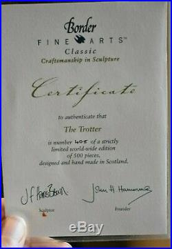 Border Fine Arts BO836'Trotter' With Certificate Limited Edition