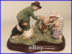 Border Fine Arts Beatrix Potter We Wish Them Goodbye In The Yard Tableau (RARE)