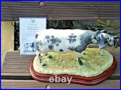 Border Fine Arts Belgian Blue Cow And Calf Limited Edition Certificate. Rare
