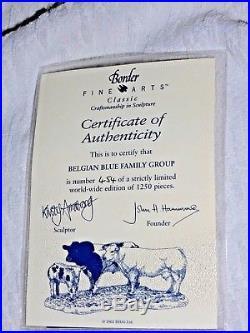 Border Fine Arts Belgian Blue Family Group Cows Cattle Ltd Ed B0771