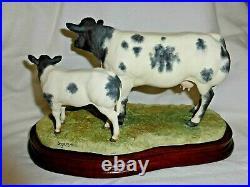 Border Fine Arts Belgium Blue Cow And Calf Ltd Ed B 05090 Version 1
