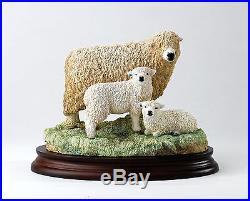 Border Fine Arts Classic B1647 Grey faced Dartmoor Ewe and Lambs NEW 25907