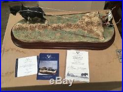 Border Fine Arts Clean Sweep horse limited edition 651/950 Very Good Condition
