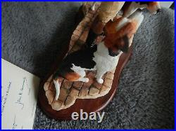 Border Fine Arts End of An Era Limited Edition Hunting Hounds Piece
