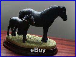 Border Fine Arts Fell Mare & foal by A Wall Limited Brand new