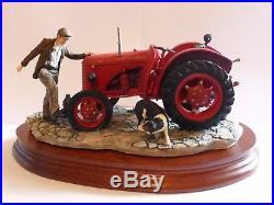 Border Fine Arts Figurine Kick Start Tractor New In Box Annual Society Piece