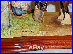 Border Fine Arts Figurine Ploughman's Lunch Ltd Ed Farmer Horse And Dog Nib