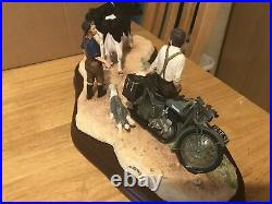 Border Fine Arts Flat Refusal 131/1500 Limited Edition Motorbike, Cattle RARE