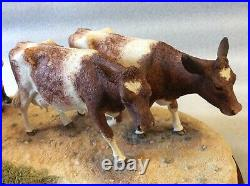 Border Fine Arts Flat Refusal Ltd Ed Shorthorn Cattle & Motorbike Rare 515