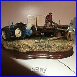 Border Fine Arts, Hard Work By Hand, County Tractor, New, Box, Certificate
