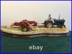 Border Fine Arts Hay Baling #b0738 Tractor Baling Mint In Original Box Large