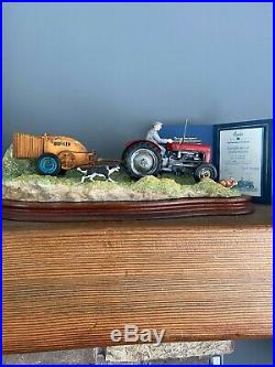 Border Fine Arts Hay Turning, Tractor Model Border Fine Arts