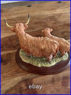 Border Fine Arts Highland Cow And Calf 167 1195 Made In Scotland