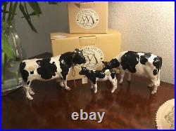 Border Fine Arts Holstein Friesian. Cattle Cow, Calf, And Bull Boxed