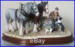Border Fine Arts Homeward Bound Clydesdales/Working Horses/Farm Scene VGC