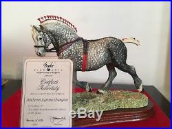 Border Fine Arts Horse PERCHERON STALLION + cert L160D