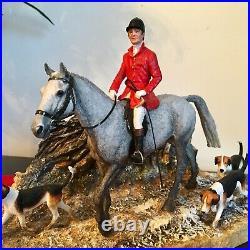 Border Fine Arts Horse, rare BOXING DAY MEET. Anne Wall